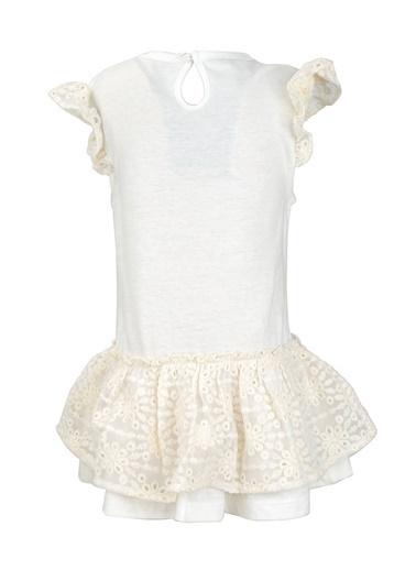 Mininio Ekru Love Pullu Dantelli Elbise (9ay-4yaş) Ekru Love Pullu Dantelli Elbise (9ay-4yaş) Ekru
